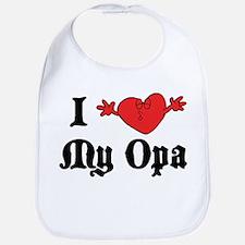 I Love My Opa Bib