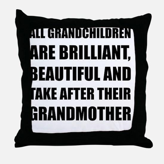 Grandchildren Brilliant Grandmother Throw Pillow