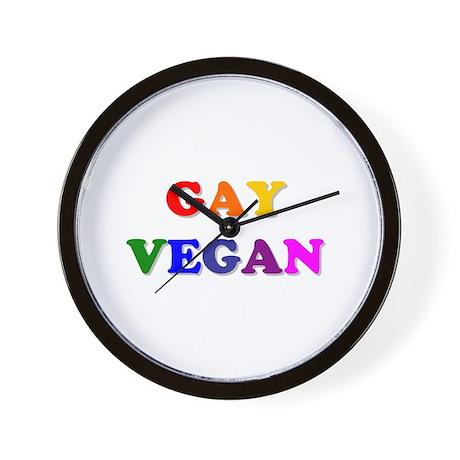 Gay Vegan Wall Clock