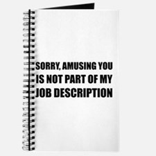 Sorry Amusing Job Description Journal