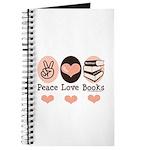 Peace Love Books Book Lover Journal