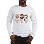 Peace Love Books Book Lover Long Sleeve T-Shirt