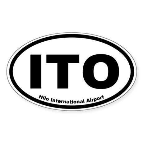 Hilo International Airport Oval Sticker