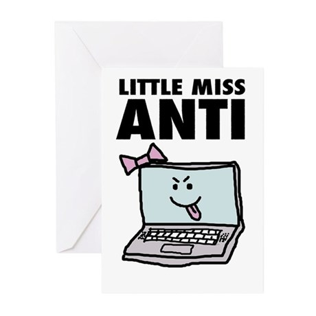Little Miss Anti Greeting Cards (Pk of 10)