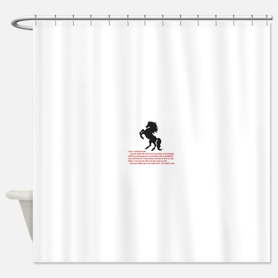 Cute Funny horse Shower Curtain