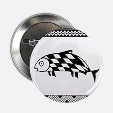 """MIBRES FISH BLACK 2.25"""" Button"""