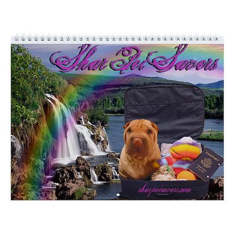 Blind Shar Pei Wall Calendar