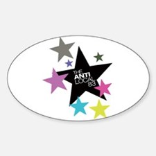 Anti Stars Oval Decal