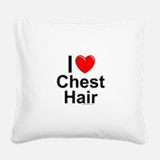 Chest Hair Square Canvas Pillow