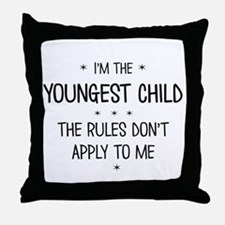 YOUNGEST CHILD 3 Throw Pillow