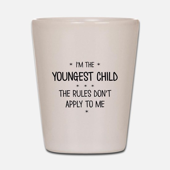 YOUNGEST CHILD 3 Shot Glass