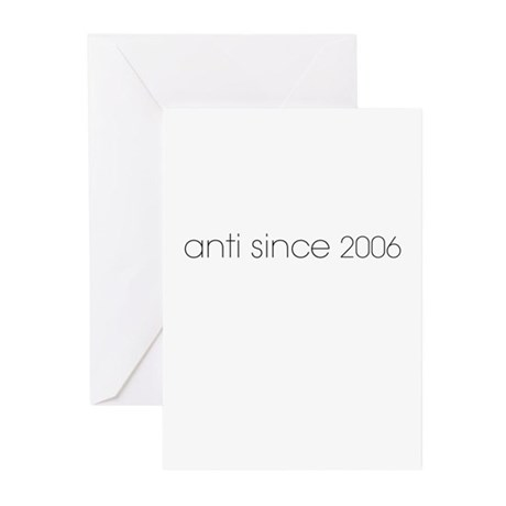 Anti Since 2006 Greeting Cards (Pk of 10)