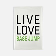 Live Love BASE Jump Rectangle Magnet