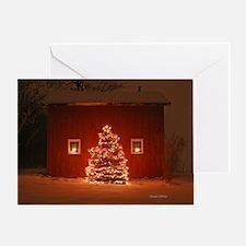 Enchanted Holiday Barn Greeting Card