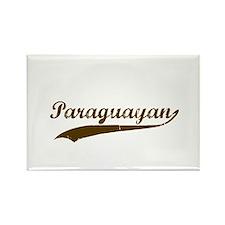 Vintage Paraguayan Retro Rectangle Magnet