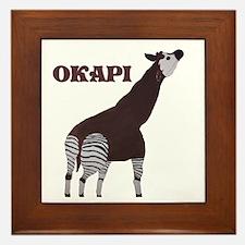 Okapi Painting Framed Tile