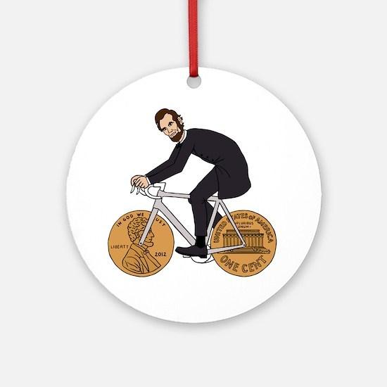 Cute Abe Round Ornament