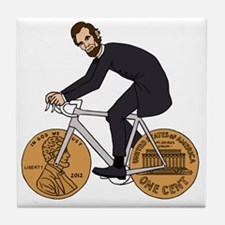 Cute Abe lincoln Tile Coaster