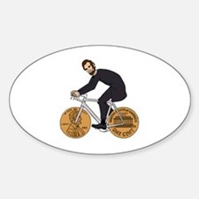 Unique Abe lincoln Sticker (Oval)
