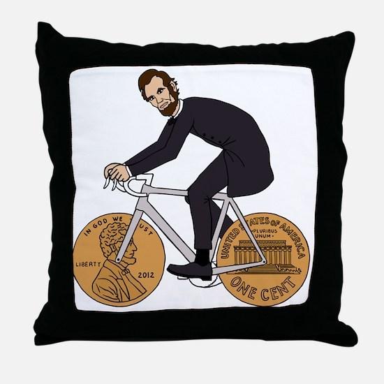Cute Abe Throw Pillow