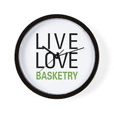 Live Love Basketry Wall Clock