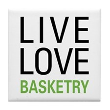 Live Love Basketry Tile Coaster