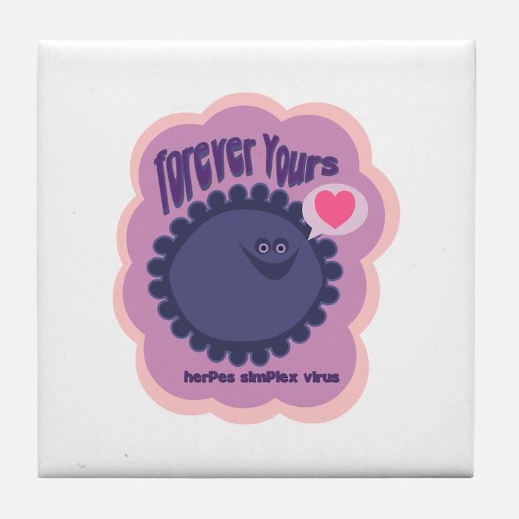 Herpes Tile Coaster