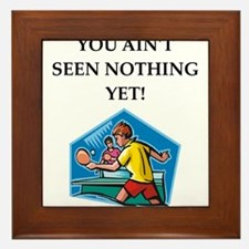 Table tennis joke Framed Tile