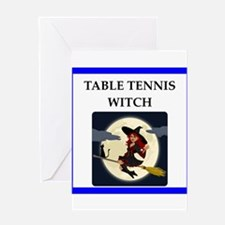 Table tennis joke Greeting Cards