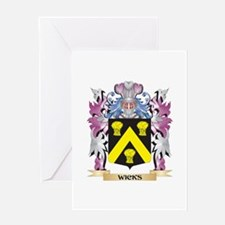 Wicks Coat of Arms - Family Crest Greeting Cards