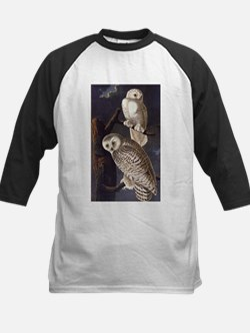 White Snowy Owls Vintage Audubon Wildlife Baseball