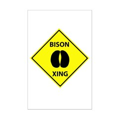 Bison Crossing Posters