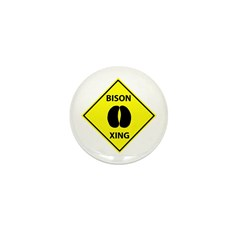 Bison Crossing Mini Button (100 pack)