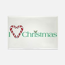I heart Christmas Rectangle Magnet (10 pack)