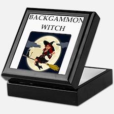 Backgammon joke Keepsake Box