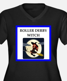 Roller Derby joke Plus Size T-Shirt