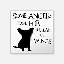 "ANGEL DOG Square Sticker 3"" x 3"""