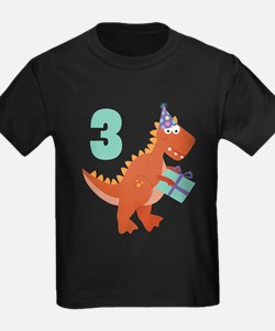 3rd Birthday Dinosaur T-Shirt