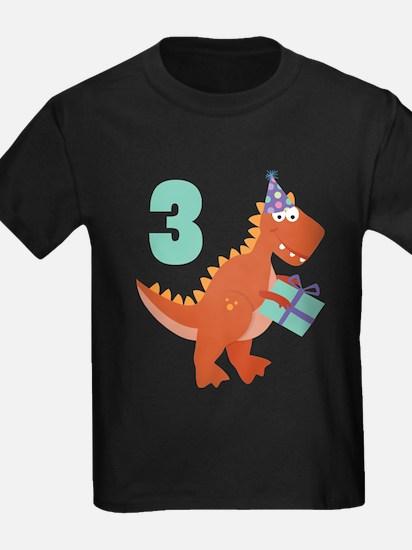 3rd Birthday Dinosaur T-Shirt
