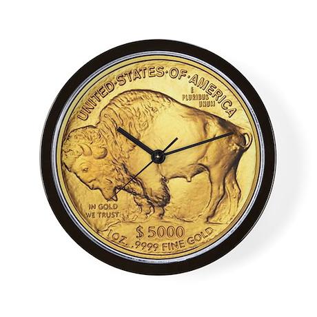 Gold Buffalo Wall Clock