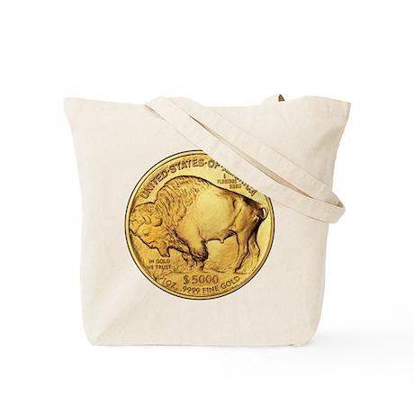 Gold Buffalo Tote Bag
