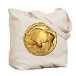 Gold Buffalo Tote Bag