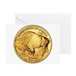 Gold Buffalo Greeting Cards (Pk of 10)