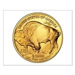 Gold Buffalo Small Poster