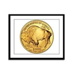 Gold Buffalo Framed Panel Print
