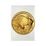 Gold Buffalo Rectangle Magnet (100 pack)