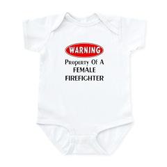 Female Firefighter Property Infant Bodysuit