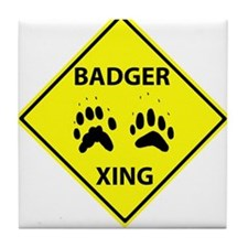 Badger Crossing Tile Coaster
