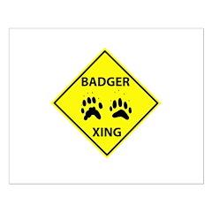 Badger Crossing Posters