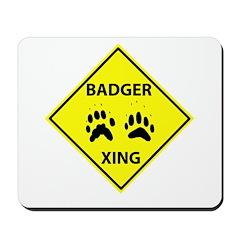 Badger Crossing Mousepad